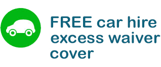 FREE car hire excess